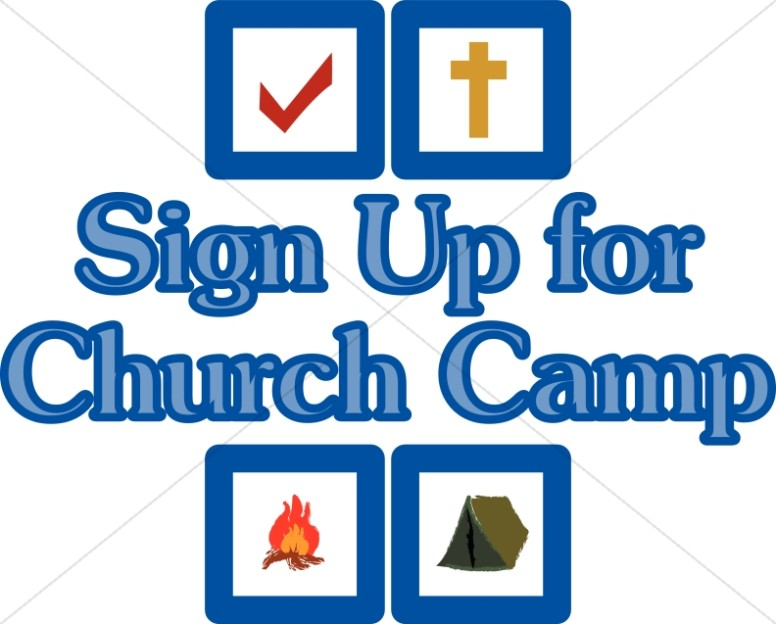 Signup christian youth summer. Camp clipart church