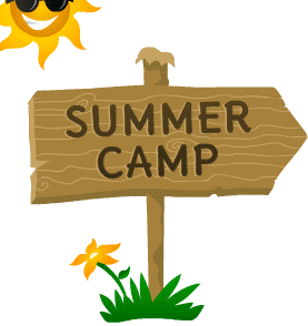 Summer camps . Camp clipart logo