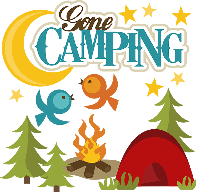 Woodland clipart camping. Gone svg file for