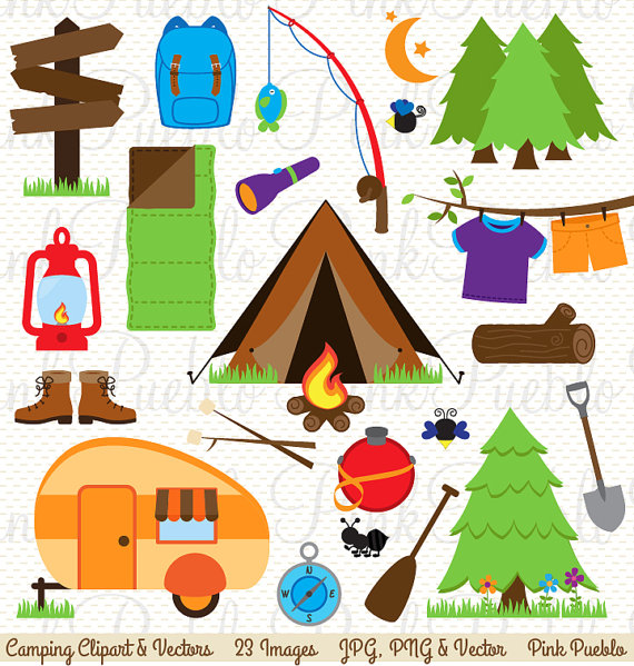 Clip art invitation or. Camping clipart camping