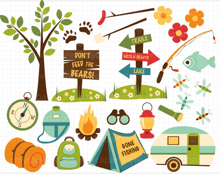 Fishing clipart camping. Free preschool cliparts download