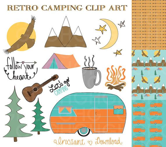 best camping images. Clipart mountain retro