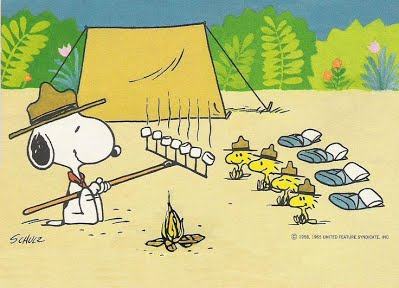 Camp clipart snoopy. Blue and gold cub