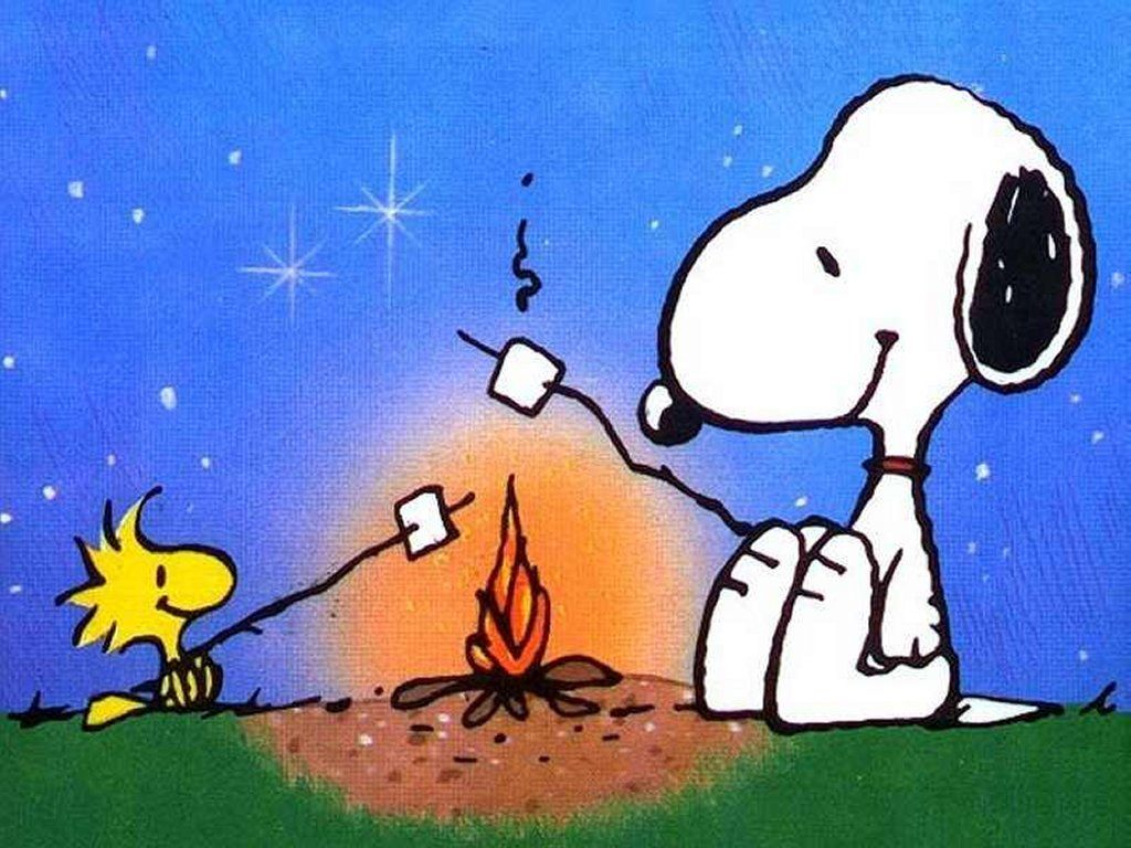 Camp clipart snoopy. Woodstock camping and campfires