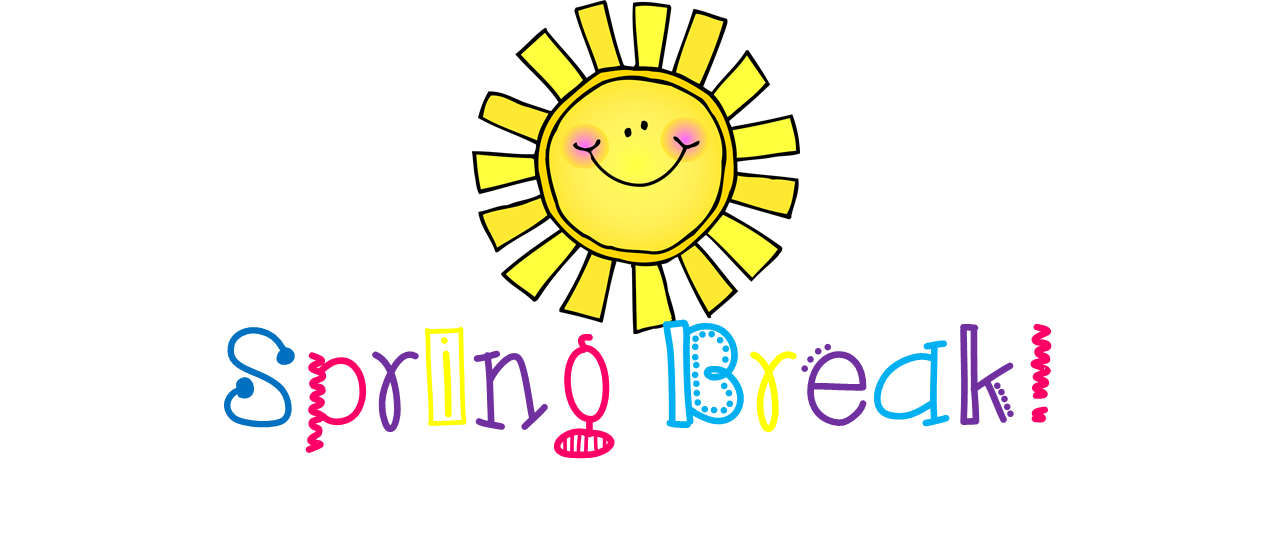 Words clipart spring. Break lunchbuddiesplus springbreak