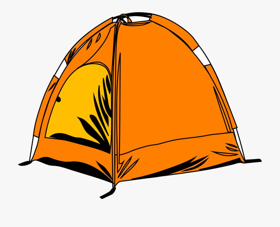 Transparent camping cartoon . Camp clipart tent