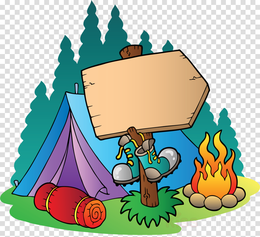 Camp clipart transparent. Summer child illustration camping