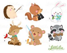 Animal summer camping forrest. Camp clipart woodland