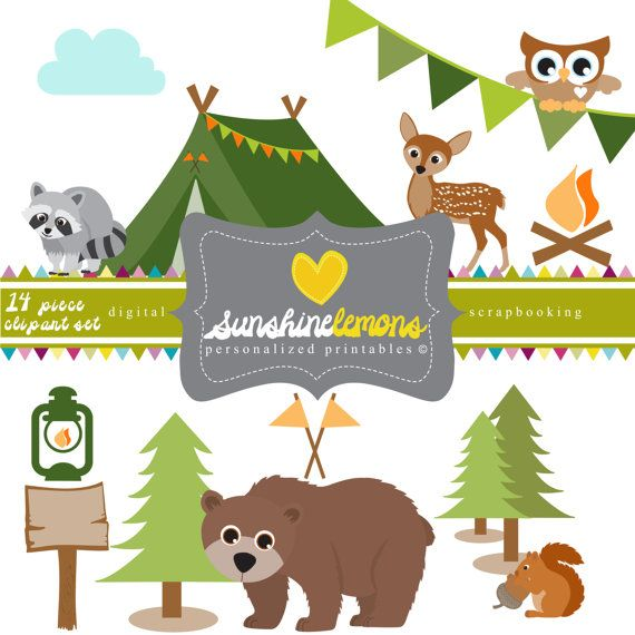 Camp clipart woodland. Campout camping by sunshinelemons