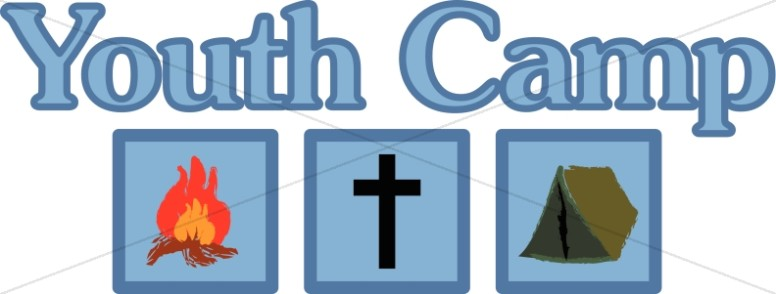Christian camping trip summer. Camp clipart youth camp