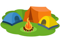 Free camping clip art. Camp clipart