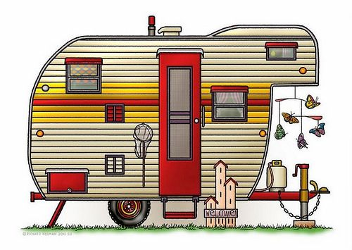 Camper clipart 5th wheel camper. Whimsical yellowstone fifth rv