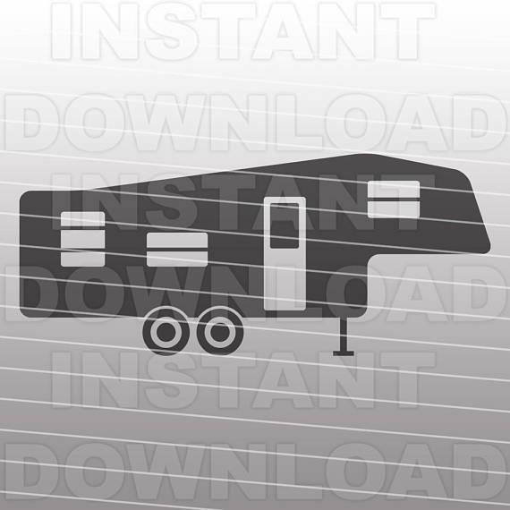 Fifth Wheel RV Camper SVG FileCamping SVG Commercial &