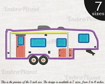 Camper clipart 5th wheel camper.  th sign etsy