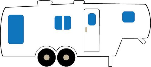 th papercutting wheels. Camper clipart 5th wheel camper