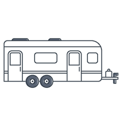 Rv covers travel trailer. Camper clipart 5th wheel camper
