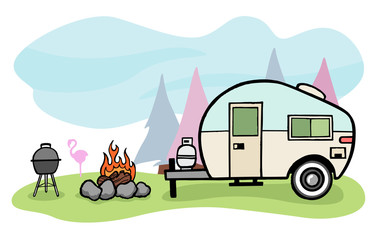 Camper clipart animated. Search photos cartoon category