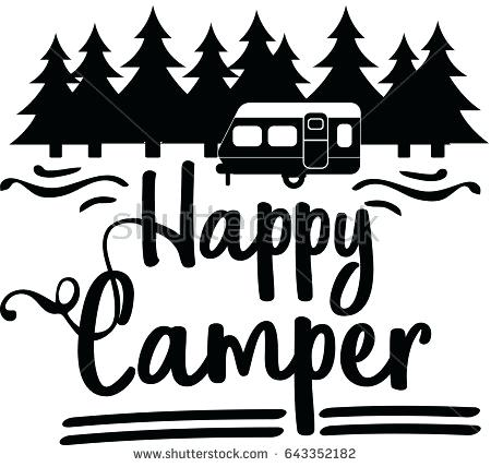 Camper clipart black and white. Camping cilpart nobby design