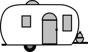 Book of motorhome in. Camper clipart black and white