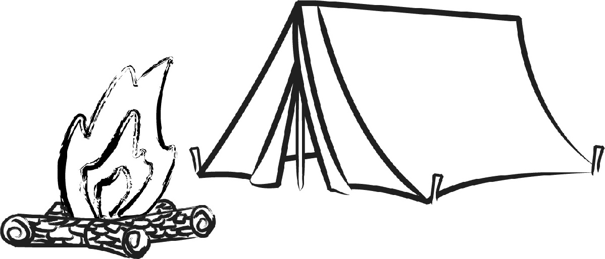 Camper clipart black and white. Letters camping cliparts free