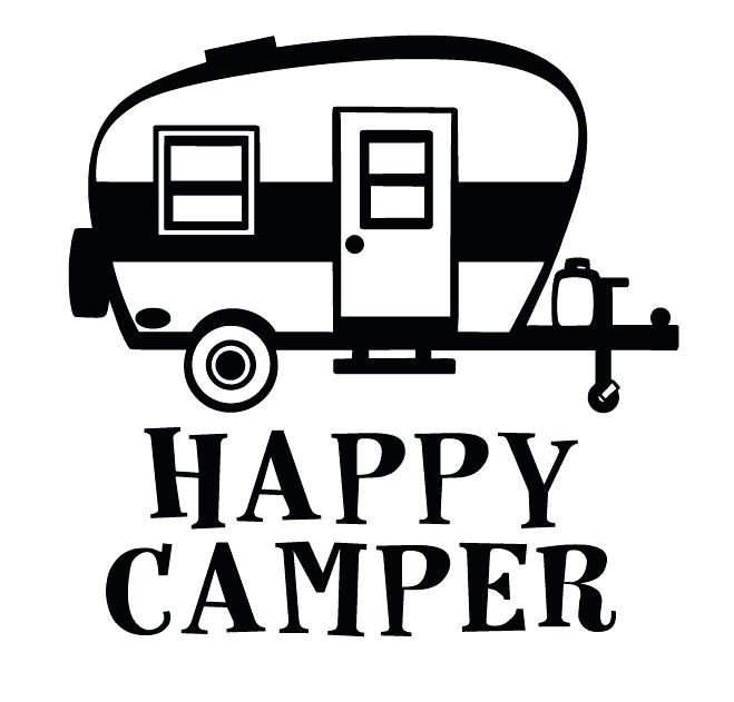 Camper clipart black and white. Clipartuse pin silhouette pop