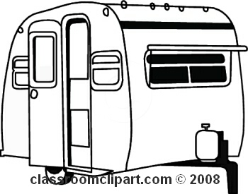 . Camper clipart black and white
