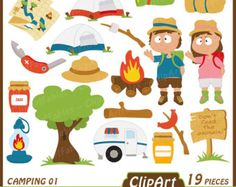 Camping hand drawn fall. Camper clipart camp counselor
