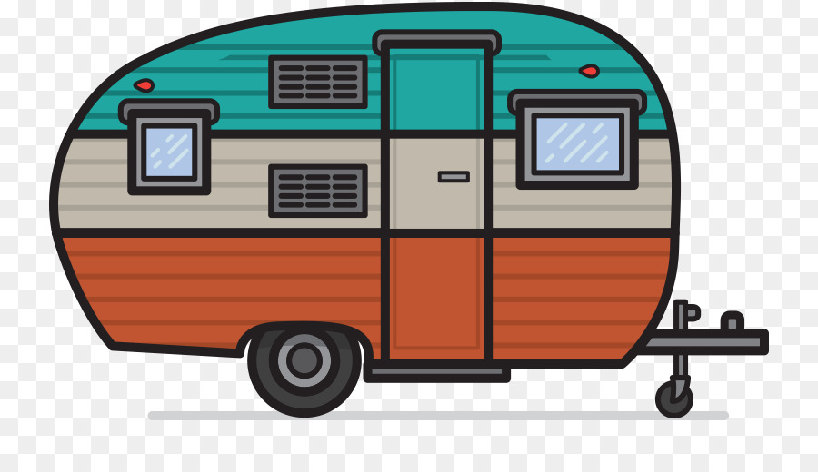 Campervans caravan camping vehicle. Camper clipart campervan