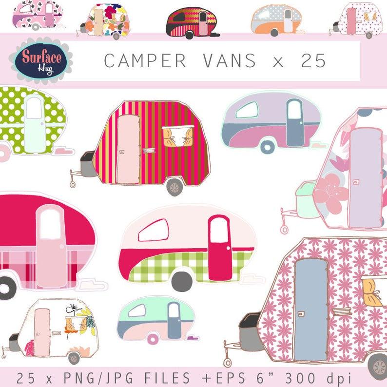 Clip art vans retro. Camper clipart campervan