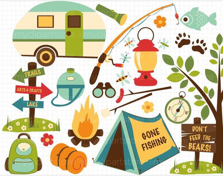Camper clipart camping theme. Clip art getbellhop girl