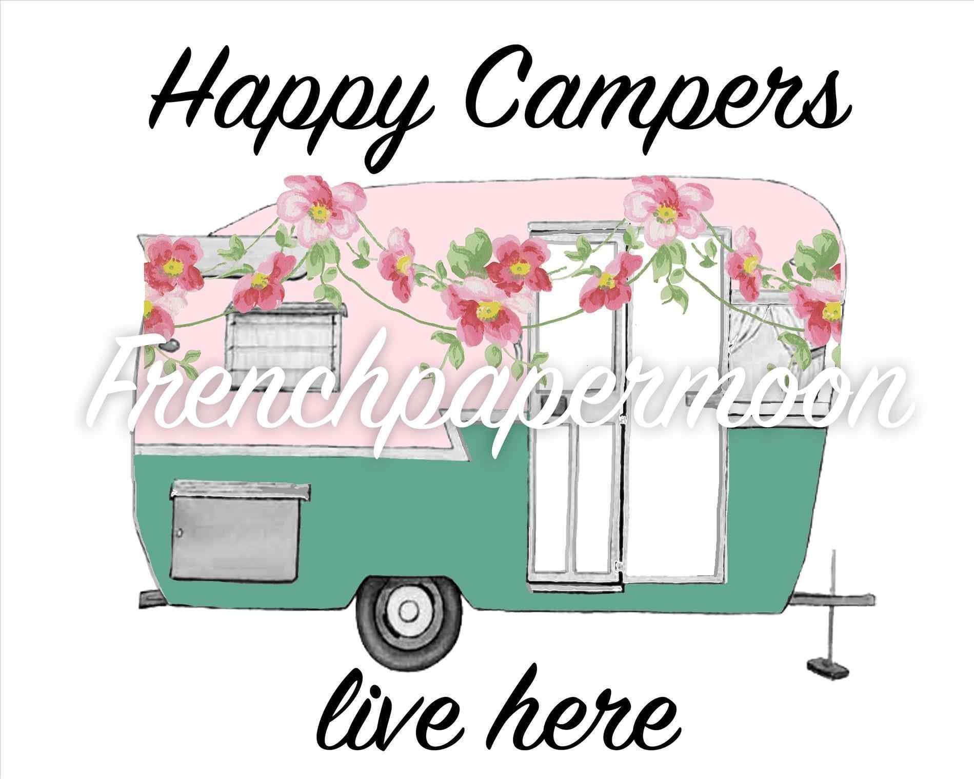 Digital pillow rhfrenchpapermooncom clipground. Camper clipart caravan