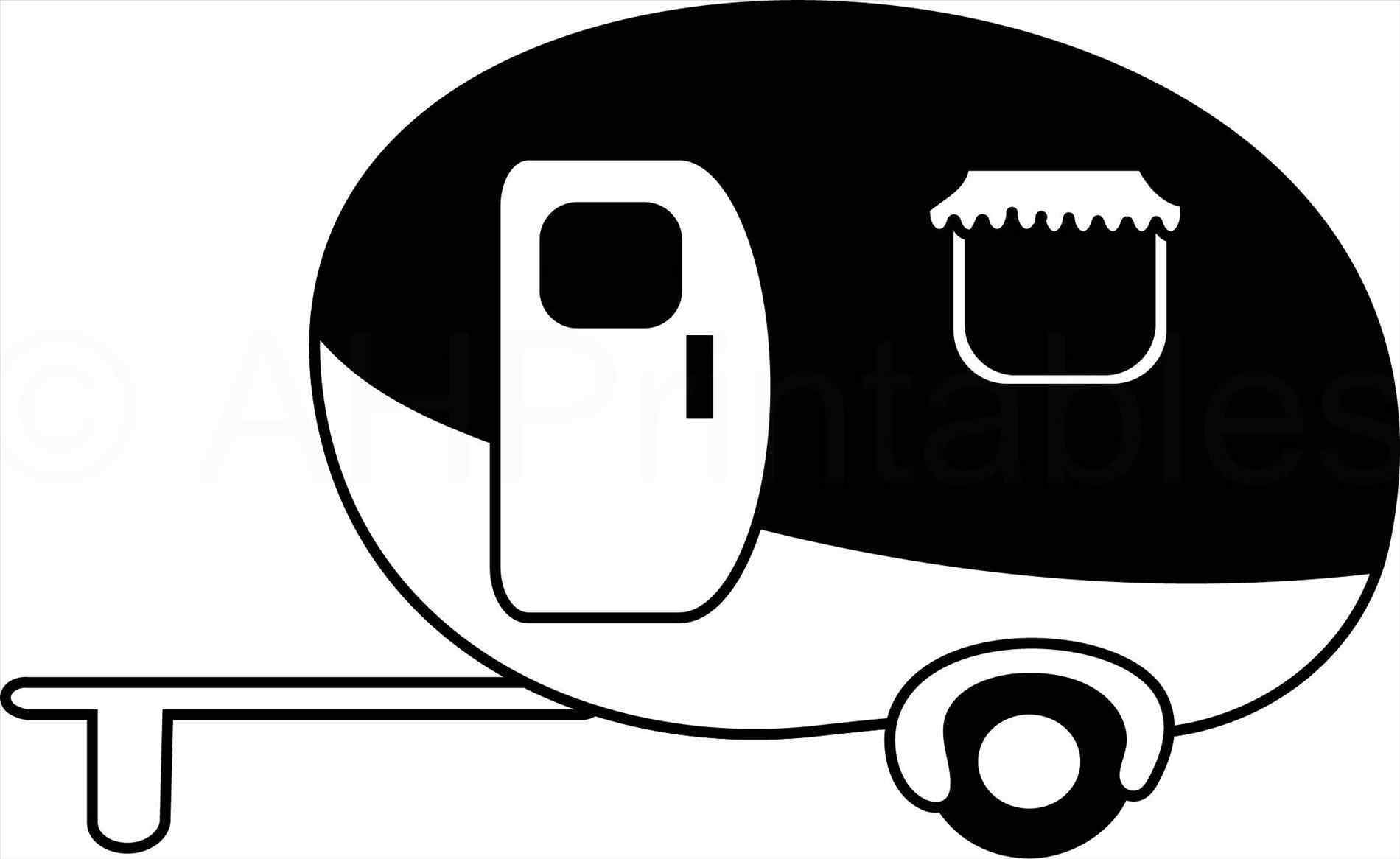 Clipart caravan pencil and in color caravanrhmozirucom teardrop ...