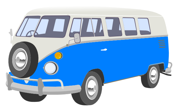 Blue van clip art. Camper clipart cartoon