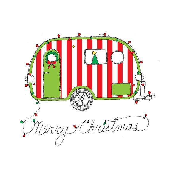 Camper clipart christmas. Free cliparts download clip