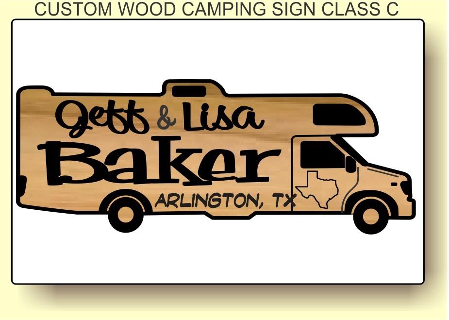 Custom wood motorhome carved. Camper clipart class c