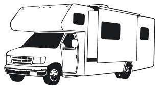 Rv camping signs pinterest. Camper clipart class c
