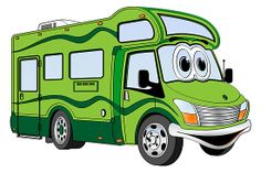 Camper clipart class c. Whimsical motorhome rv and