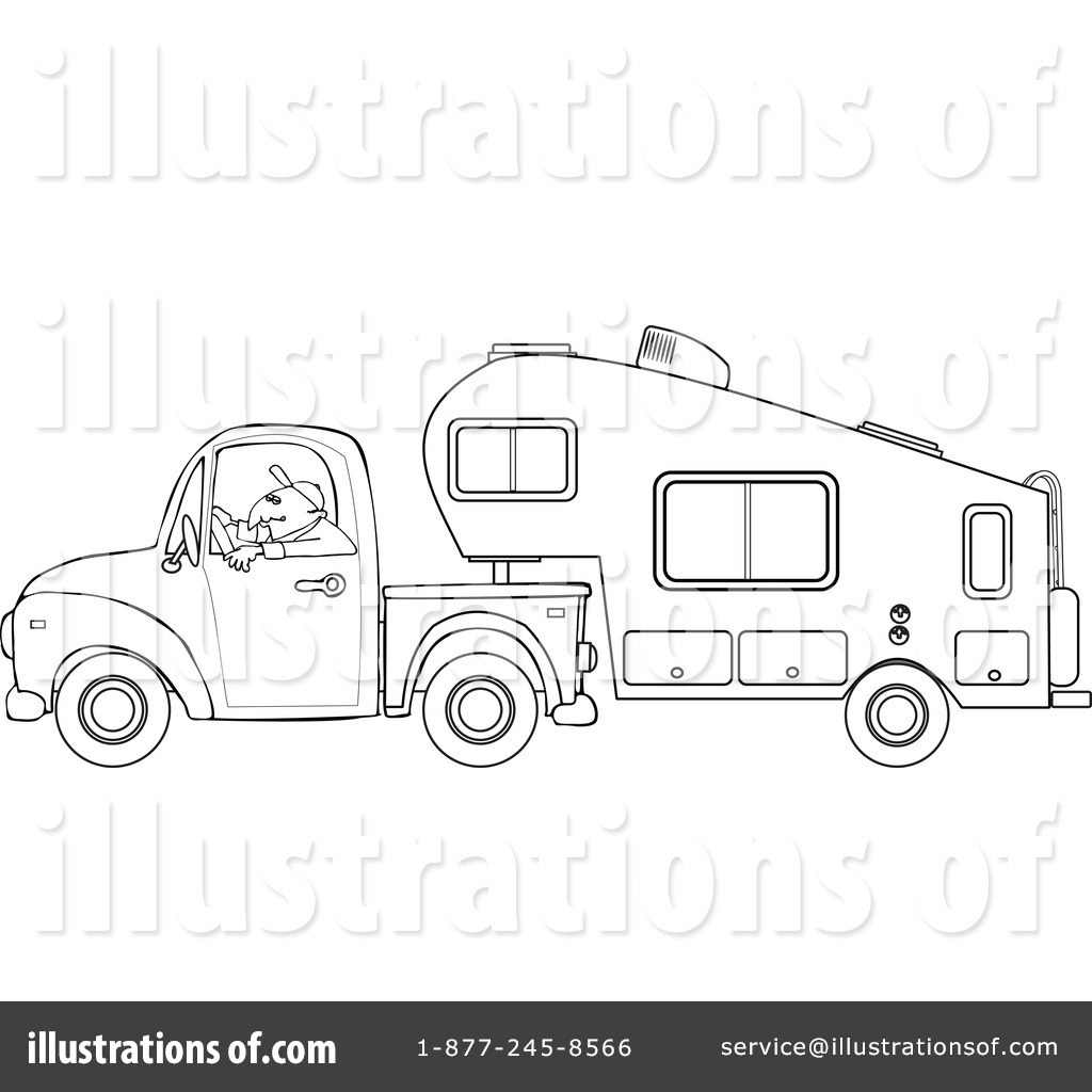 Illustration by djart royaltyfree. Camper clipart clip art