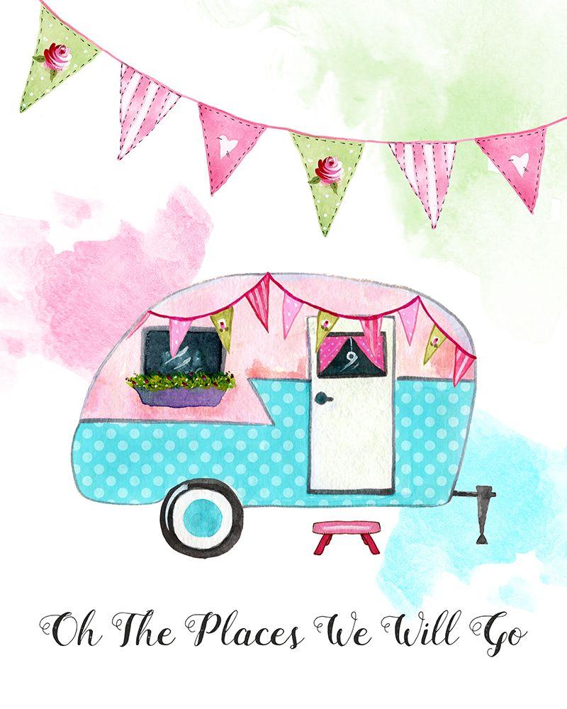 Camper clipart cute. Free printable print set
