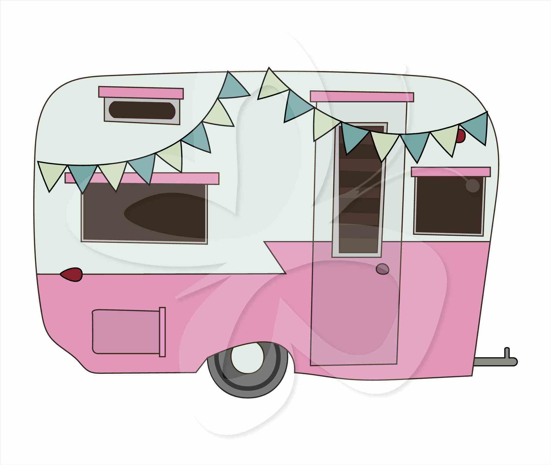 Clipground caravan vintage rv. Camper clipart cute