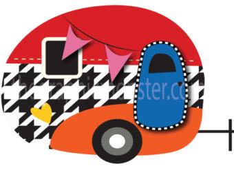 Camper clipart family. Retro cliparts free download