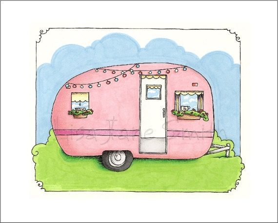 Camper clipart girly.  best glamping images