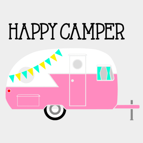 Camper clipart happy camper.  drinking jar bubblegum