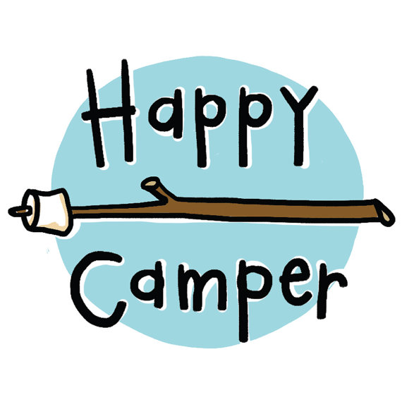 Temporary tattoos camping s. Camper clipart happy camper
