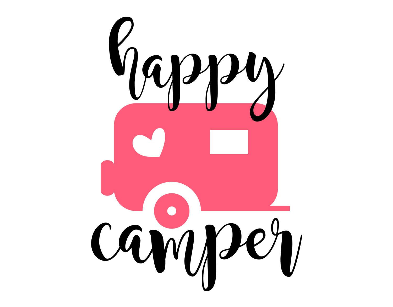Camper clipart happy camper. Svg eps dxf png