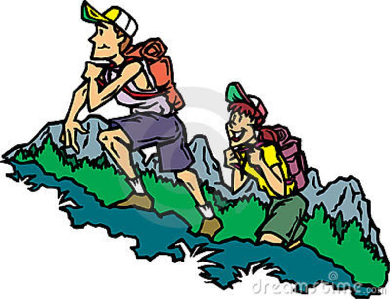 Maybe i would go. Camper clipart hiker
