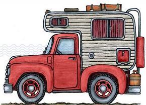 Free truck. Camper clipart logo