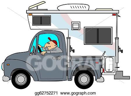 Drawing truck gg gograph. Camper clipart logo