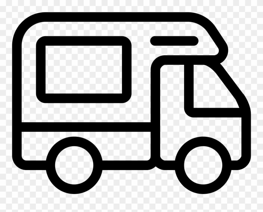 Caravan icon png download. Camper clipart motorhome