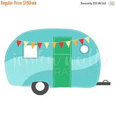 Camper clipart old fashioned. Retro clipartfest illustration pinterest